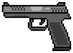 Pixel Art Gun Sticker