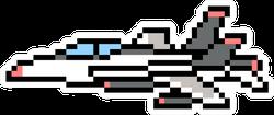 Pixel Art Jet Plane Sticker