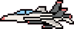 Pixel Art Jet Plane Sticker