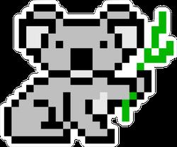 Pixel Art Koala Bear Sticker