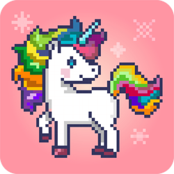 Pixel Art Magical Unicorn Sticker