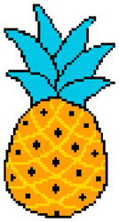 Pixel Art Pineapple Sticker