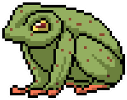 Pixel Art Poison Frog Sticker