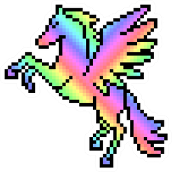 Pixel Art Rainbow Pegasus Sticker
