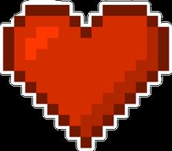 Pixel Art Red Heart Sticker