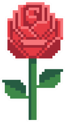 Pixel Art Rose Sticker