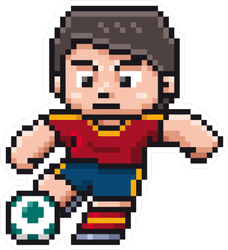 Pixel Art Soccer Player Sticker