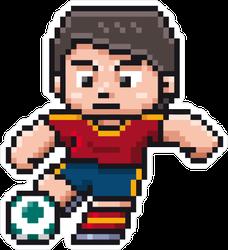 Pixel Art Soccer Player Sticker
