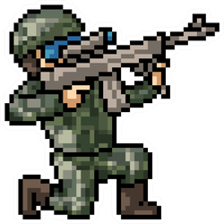 Pixel Art Soldier Sniper Sticker