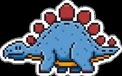 Pixel Art Stegosaurus Sticker