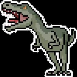 Pixel Art T-Rex Dinosaur Sticker