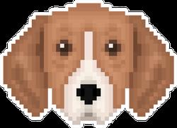 Pixel Art Tricolor Dog Sticker