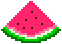 Pixel Art Watermelon Sticker
