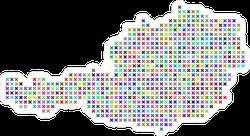 Pixelated Austria Map Sticker