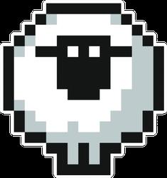 Pixelated Cute Fun Sheep Sticker