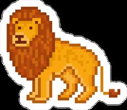 Pixelated Lion Sticker