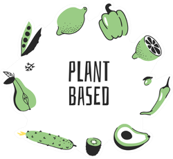 Plant Based Green Fruits And Vegetables Sticker