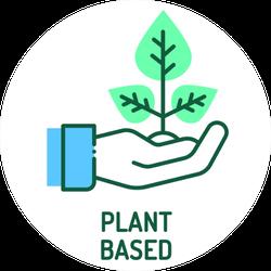 Plant Based Illustration Sticker