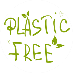 Plastic Free Hand Drawn Sticker