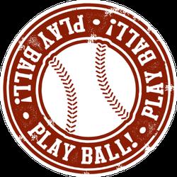 Play Ball Baseball Or Softball Stamp Sticker