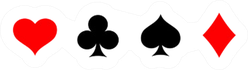 Playing Card Suit Icon Symbol Set Sticker