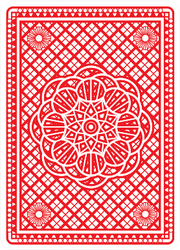 Playing Cards Back Design In Red Sticker