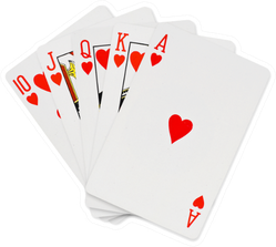Playing Cards Set On White Background Sticker
