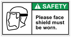 Please Wear Face Shield Sticker