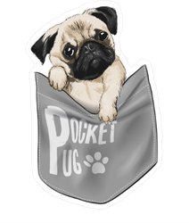 Pocket Pug Sticker