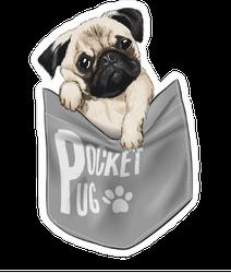 Pocket Pug Sticker