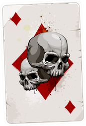 Poker Card With Skulls Sticker
