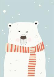 Polar Bear In Scarf Sticker