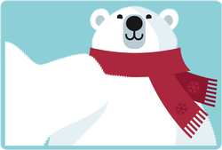 Polar Bear Selfie Sticker