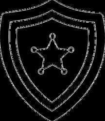 Police Badge Icon Sticker
