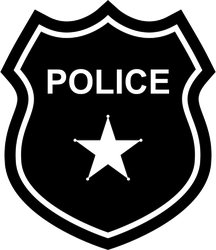 Police Badge Silhouette Sticker