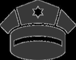 Police Cap Icon Sticker