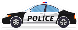 Police Car Profile Sticker