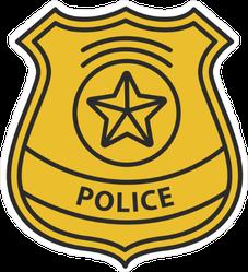 Police Detective Badge Sticker