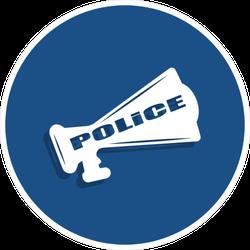 Police Megaphone Sticker