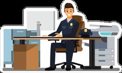 Police Officer Desk Sticker
