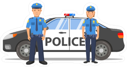 Police Partners and Car Sticker
