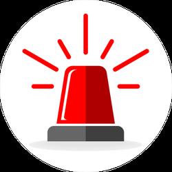 Police Red Light Sticker