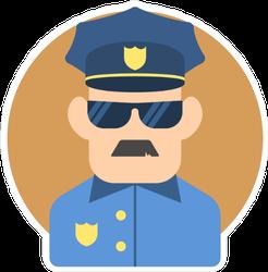 Policeman Flat Illustration Sticker
