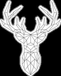 Polygonal Deer Head Sticker