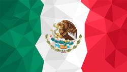 Polygonal Flag Of Mexico Sticker