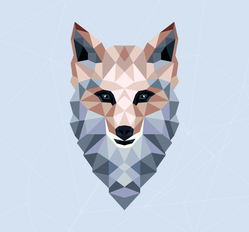 Polygonal Fox Design Sticker