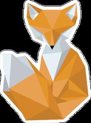 Polygonal Fox Sticker