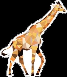 Polygonal Giraffe In Color Sticker