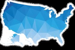 Polygonal Map Of USA Sticker