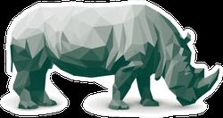 Polygonal Rhinoceros Illustration Sticker